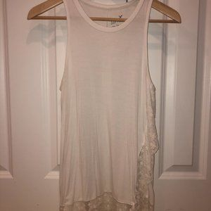 AE Soft and Sexy White Laced Tank Size S